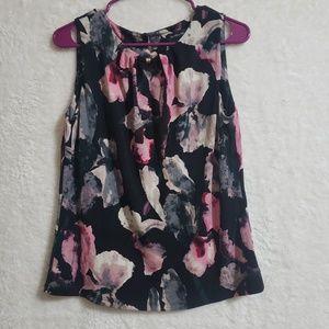 Ivanka trump floral blouse Short sleeve size M
